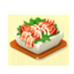 Baconös paradicsom saláta